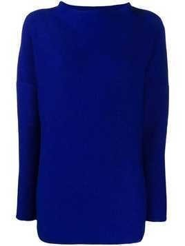 Daniela Gregis stand up collar jumper - Blue