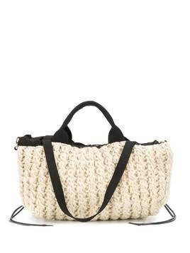 Muun knitted wool tote - NEUTRALS