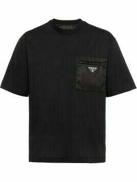 Prada logo-plaque T-shirt - Black
