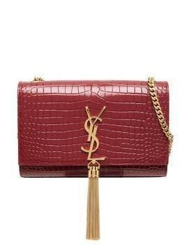 Saint Laurent small Kate croc-effect crossbody bag - Red