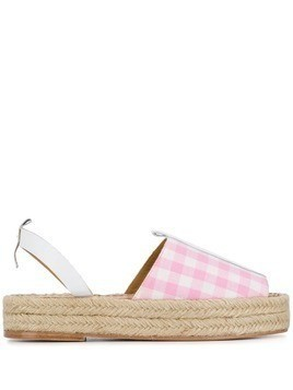 Dodo Bar Or checked espadrille sandals - Pink