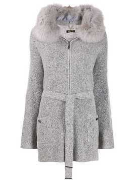 Max & Moi Renard knitted coat - Grey