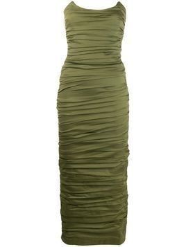 Miaou ruched strapless dress - Green
