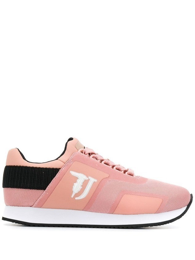 Trussardi Jeans panelled low sneakers - PINK