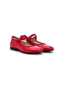 Gallucci Kids strapped ballerina shoes - Red