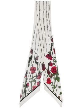 Rockins Rose print skinny scarf - NEUTRALS