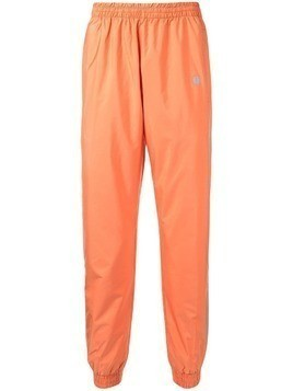 Astrid Andersen satin styled track trousers - Orange