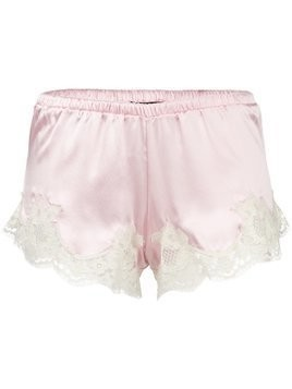 Dolce & Gabbana Underwear lace trim French knickers - Pink & Purple