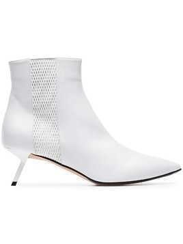 Alchimia Di Ballin white libra 55 mesh detail leather boots