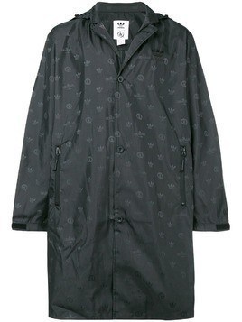 Adidas long brand raincoat - Black