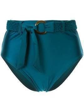 Duskii Océana belted high waisted bikini bottoms - Blue