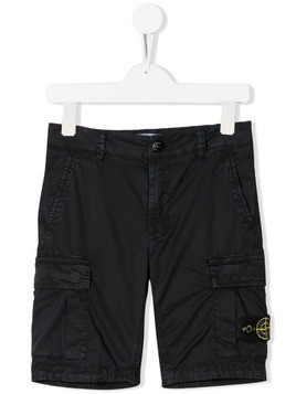 Stone Island Junior cargo shorts - Blue