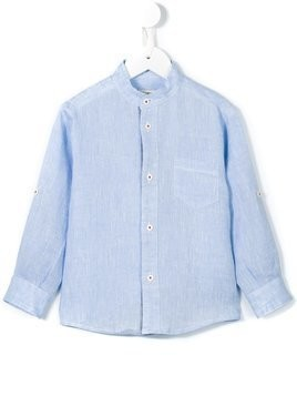 Cashmirino Korean collar shirt - Blue