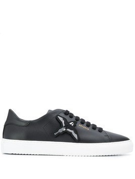 Axel Arigato embroidered bird low top sneakers - Black