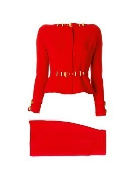 Versace Vintage off-shoulders skirt suit - Red