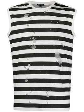 Ann Demeulemeester striped tank top - Black