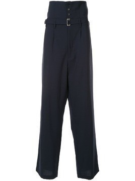 Hed Mayner button-up trousers - Blue