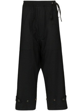 Bed J.W. Ford Deck button detail track pants - Black