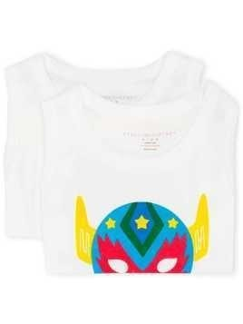 Stella McCartney Kids Saturday mask print vest set - White