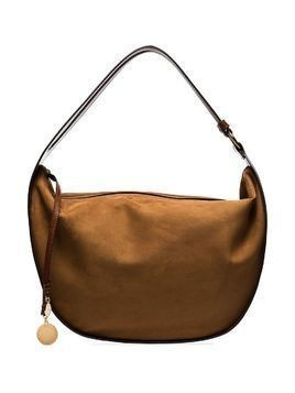 Stella McCartney logo-charm shoulder bag - Brown