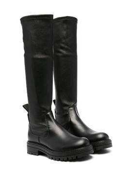 Cinzia Araia Kids knee-high leather boots - Black