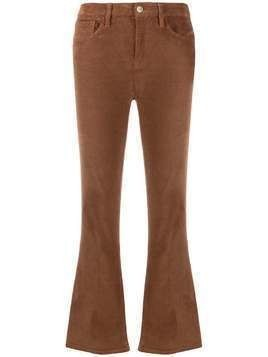Frame cropped corduroy jeans - Brown