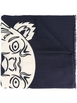 Kenzo 'Tiger Face' scarf - Blue