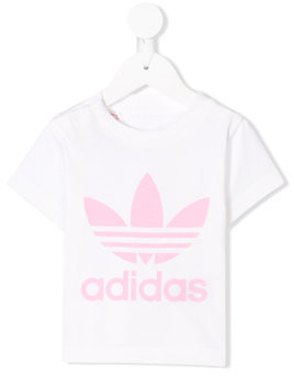 Adidas Kids printed T-shirt - White