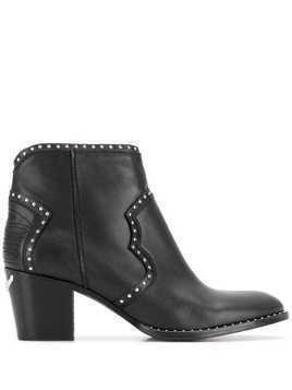 Zadig&Voltaire Molly studded boots - Black