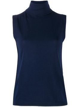 Allude roll neck tank top - Blue