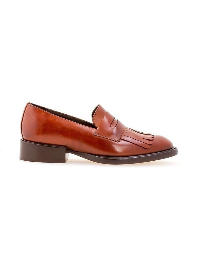 Sarah Chofakian fringed loafers - Brown