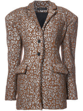 Barbara Bologna exaggerated shoulder blazer - Brown