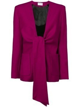 Osman Spencer tie-front jacket - Purple