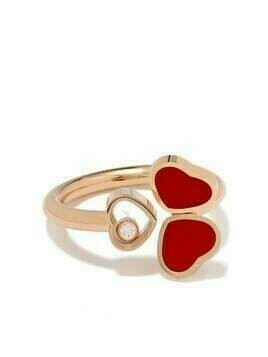 Chopard 18kt rose gold Happy Hearts ring - PINK