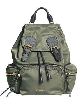 Burberry medium Rucksack in technical nylon and leather - Green