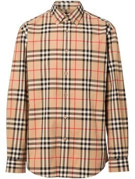Burberry Vintage Check Cotton Poplin Shirt - Brown