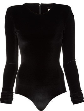 Alexandre Vauthier long sleeved one piece - Black