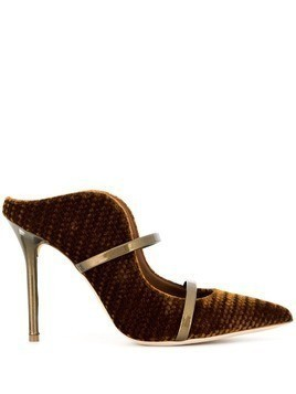 Malone Souliers Maureen pointed mules - Brown