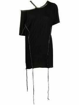 Masnada asymmetrical cut-out top - Black