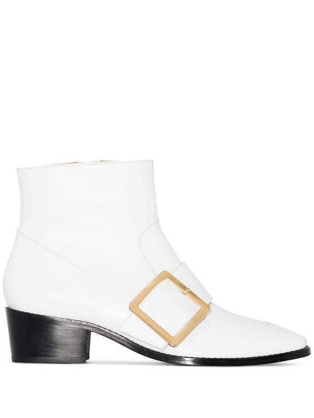 Roker Whickham 35 buckled ankle boots - White