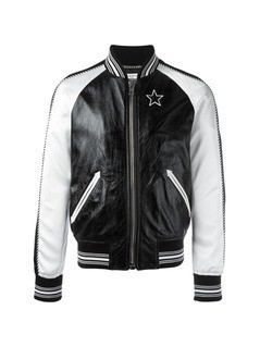 Givenchy monochrome bomber jacket - Black