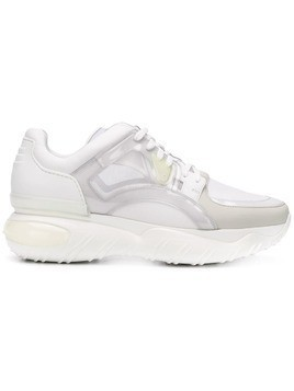 Fendi contrast low-top sneakers - White