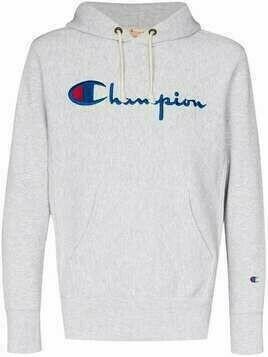 Champion script embroidered logo hoodie - Grey