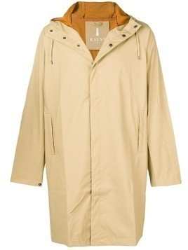 Rains waterproof hooded coat - Neutrals
