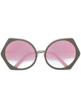 Matthew Williamson geometric tinted sunglasses - Brown