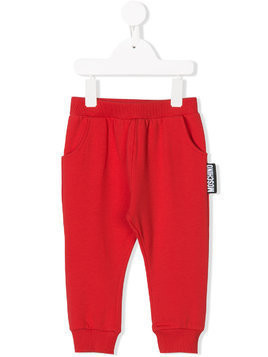 Moschino Kids branded jogging bottoms - Red
