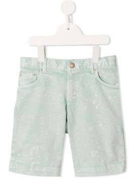 Bonpoint acid wash denim shorts - Green