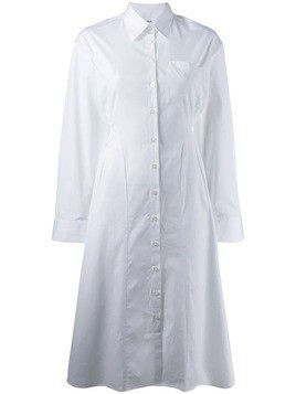 Each X Other fitted poplin shirt dress - White