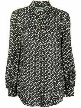 Boutique Moschino floral-print shirt - Black