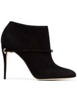 Jennifer Chamandi black maurizio 105 suede leather boots